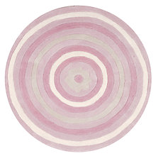 Buy little home at John Lewis Alice Round Rugs, Pink Online at johnlewis.com