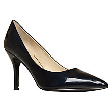 Buy Nine West Flax3 Glossy Pointed Toe Court Shoes, Navy Online at johnlewis.com