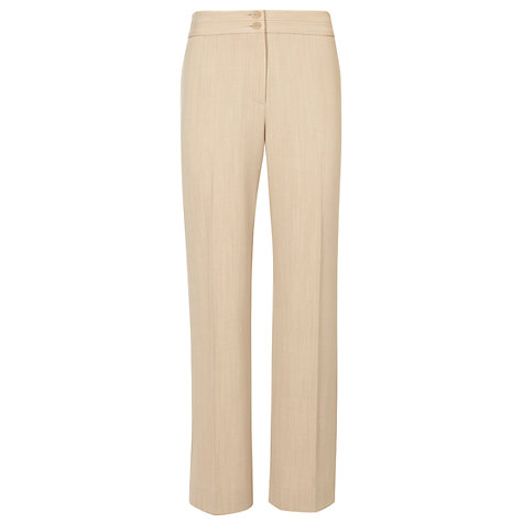 Buy CC Petite Straight Leg Trousers, Flax Online at johnlewis.com
