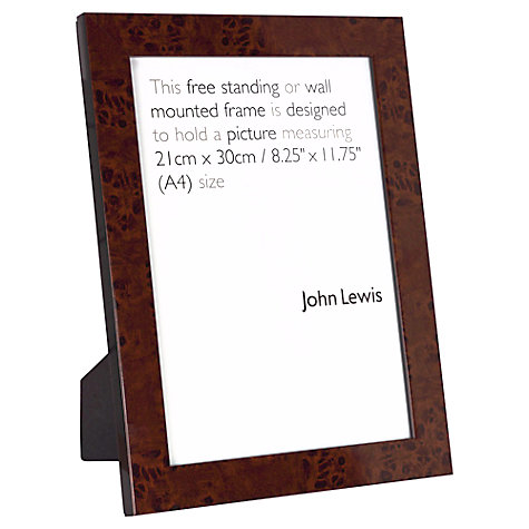 Buy John Lewis Walnut Finish Photo Frames Online at johnlewis.com