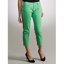 Buy Lauren by Ralph Lauren Straight Leg Cropped Trousers, Green Online at johnlewis.com