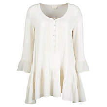 Buy Ghost Nikki Crepe Tunic Top, Ivory Online at johnlewis.com