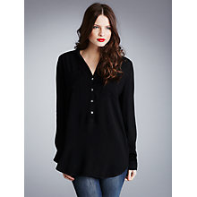 Buy Ghost Spirit Debbie Crepe Shirt, Black Online at johnlewis.com