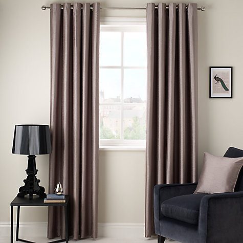 Buy John Lewis Faux Silk Blackout Lined Eyelet Curtains Online at johnlewis.com