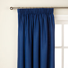 Buy John Lewis Polycotton Pencil Pleat Blackout Lined Curtains Online at johnlewis.com