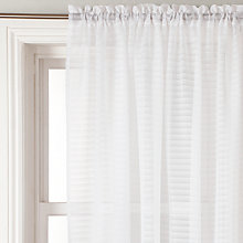 Buy John Lewis Sorrento Stripe Slot Top Voile Panel, White Online at johnlewis.com