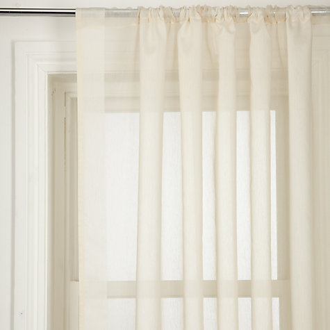 Buy John Lewis Piazza Voile Panel, Cream Online at johnlewis.com