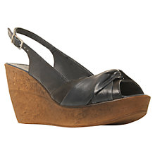 Buy Carvela Kitten Leather Slingback Wedge Sandals Online at johnlewis.com
