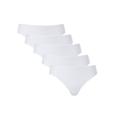 Buy John Lewis 5 Pack High Leg Briefs Online at johnlewis.com