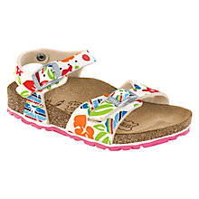 Buy Birkenstock Tuvalu Flowers Sandals, Multi Online at johnlewis.com
