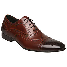 Buy Dune Amore Brogue Leather Oxford Shoes, Tan Online at johnlewis.com