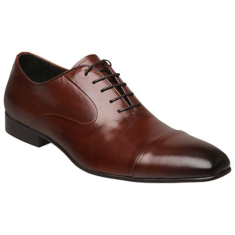 Buy Dune Alex Leather Oxford Shoes, Tan Online at johnlewis.com