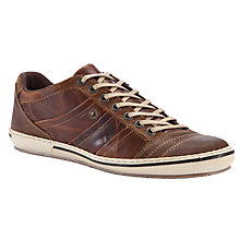 Buy Dune Scribble Leather Trainers, Tan Online at johnlewis.com