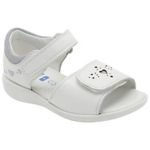 Buy Clarks Hazy Star Sandals, White Online at johnlewis.com