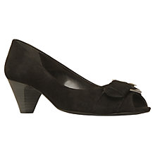 Buy Carvela Adelle Peep Toe Buckle Suede Court Shoes Online at johnlewis.com