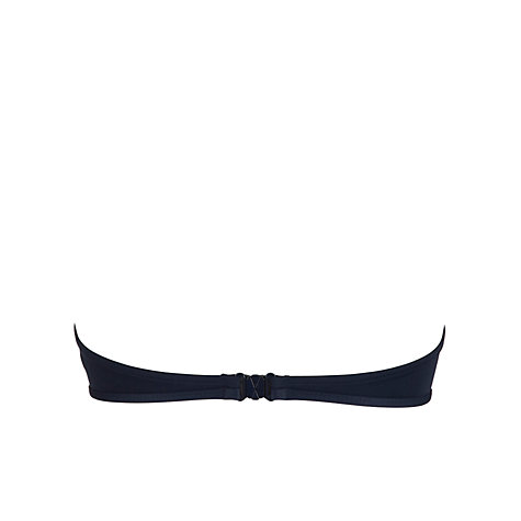 Buy Seafolly Pleat Bandeau Bikini Top, Indigo Online at johnlewis.com
