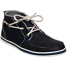 Buy Dune Stone Perforated Detail High Top Suede Shoes, Navy Online at johnlewis.com
