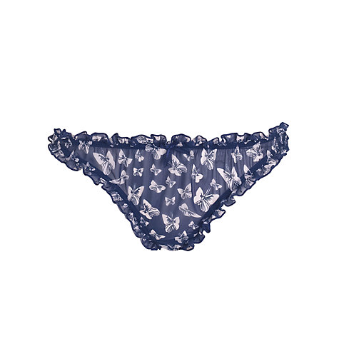 Buy John Lewis Butterfly Hipster Briefs, Navy Online at johnlewis.com