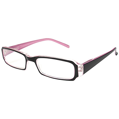 Buy Magnif Eyes Unisex Nashville Dawn Ready Reader Glasses, Black/Pink Online at johnlewis.com