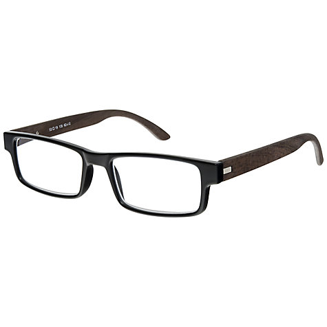 Buy Magnif Eyes Unisex Oakland Ready Reader Glasses, Ebony Online at johnlewis.com
