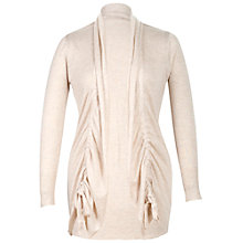 Buy Chesca Drawstring Cardigan, Putty Online at johnlewis.com