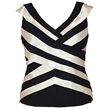 Buy Chesca Strip Top, Black/Oyster Online at johnlewis.com