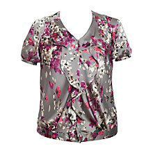 Buy Chesca Blossom Bloom Blouse, Grey Online at johnlewis.com