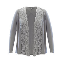 Buy Chesca Lace Trim Shrug, Pale Grey Online at johnlewis.com