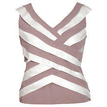 Buy Chesca Strip Top, Cappuccino/Ivory Online at johnlewis.com