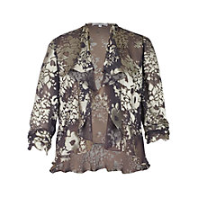 Buy Chesca Silk Mix Shrug, Rock/Champagne Online at johnlewis.com