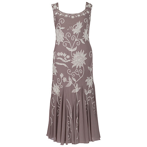 Buy Chesca Embroidered Dress, Cappuccino Online at johnlewis.com