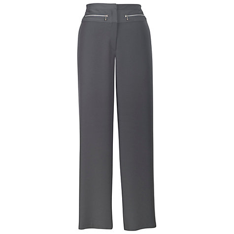 Buy Chesca Zip Detail Trousers, Grey Online at johnlewis.com