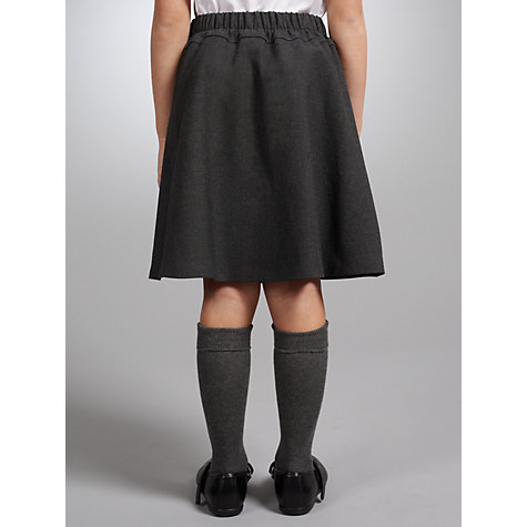 Buy John Lewis Girls' A-Line School Skirt, Grey Online at johnlewis.com