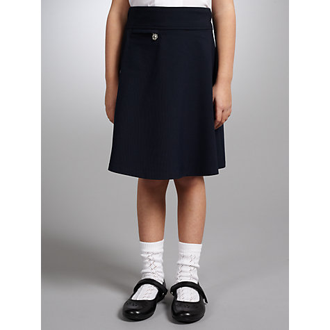 Buy John Lewis Girls' A-Line School Skirt, Navy Online at johnlewis.com