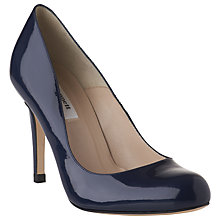 Buy L.K. Bennett Shilo Round Toe Classic Court Shoes, Navy Online at johnlewis.com