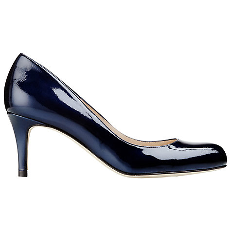 Buy L.K. Bennett Sabira Patent Stiletto Court Shoes, Navy Online at johnlewis.com