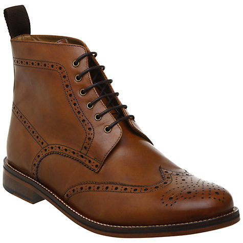 Buy Bertie Calibrate Brogue Boots, Tan Online at johnlewis.com