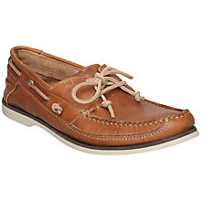 Buy Bertie Louise 3 Leather Boat Shoes, Tan Online at johnlewis.com