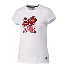 Buy Adidas London 2012 Olympics Women's Union Jack T-Shirt, White Online at johnlewis.com