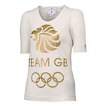 Buy Adidas Gold Team GB by Stella McCartney Logo T-Shirt Online at johnlewis.com