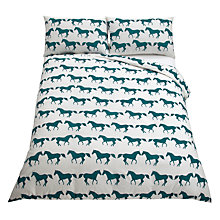 Buy Anorak Kissing Horses Duvet Cover Set Online at johnlewis.com