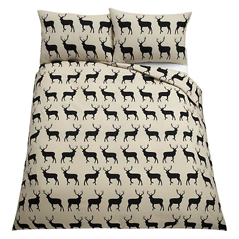 Buy Anorak Kissing Stags Duvet Cover and Pillowcase Set Online at johnlewis.com