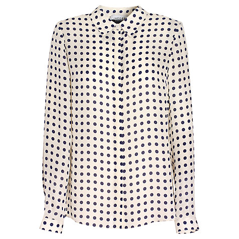 Buy Jaeger Dot Blouse, Ivory Online at johnlewis.com