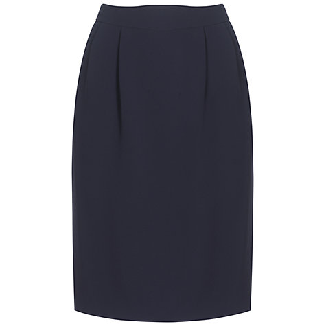 Buy Jaeger Kensington Smart Skirt, Navy Online at johnlewis.com