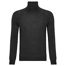 Buy John Lewis Made in Italy Merino Roll Neck Jumper, Grey Online at johnlewis.com