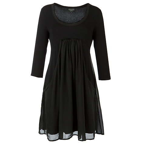 Buy Ghost Gracie Tunic Dress, Black Online at johnlewis.com