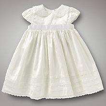 Buy John Lewis Baby Short Christening Gown, Cream Online at johnlewis.com
