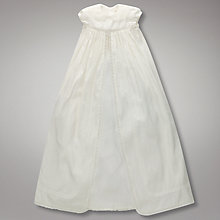 Buy John Lewis Baby Long Christening Gown, Cream Online at johnlewis.com