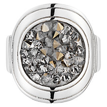 Buy Dyrberg/Kern Deanna Round Crystal Silver Tone ring Online at johnlewis.com
