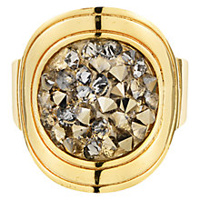 Buy Dyrberg/Kern Deanna Round Crystal Gold Tone Ring Online at johnlewis.com